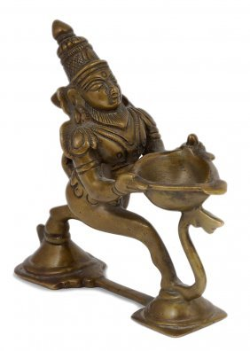A Puja Lamp, South India, 19th/20th Century In The