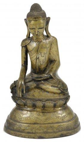 A Bronze Figure Of Buddha, Shan State, Burma (myanmar),