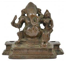 A Bronze Figure Of Ganesha, Tamil Nadu, South India,
