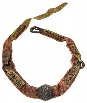 A Tibetan Belt, 18th Century And Later Composed Of