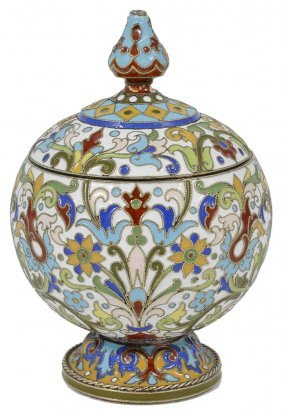 A Cloisonne Enameled Silver-gilt Small Jar And Cover,