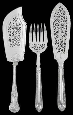 A Victorian Silver Fish Slice, Charles Lias, London,