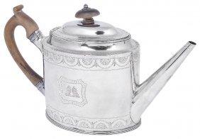 A George Iii Silver Teapot, Peter & Ann Bateman,