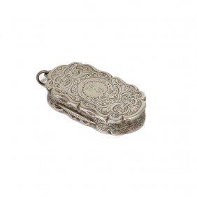 A Victorian Silver 'castletop' Vinaigrette, James