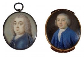 ˜a Portrait Miniature Of A Gentleman, By Gustavus