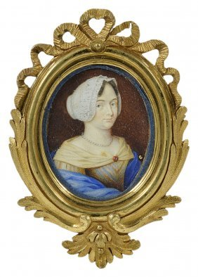 A Portrait Miniature Of A Gentleman, French School,