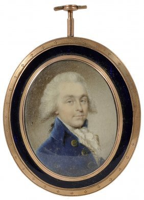 ˜a Portrait Miniature Of A Gentleman, By Philip Jean