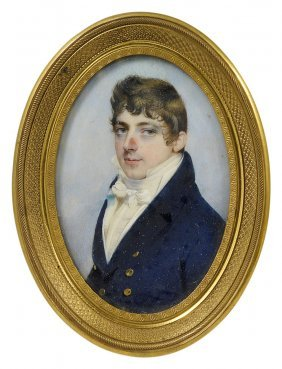 ˜a Portrait Miniature Of A Gentleman, Attributed To