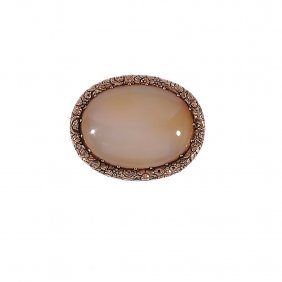 Agate And Gold Brooch, Late 18th Century The Oval