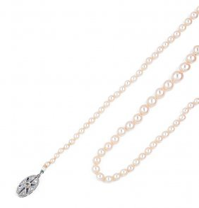 Cultured Pearl Necklace The Knotted Graduated Pearls