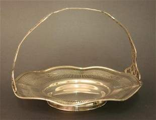 Basket with handle, 925 Sterling Silver