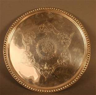 Round Tray, Silver Plated
