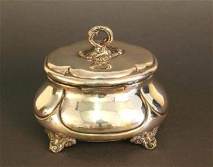 Sugarbowl, Bourgeois Period, Silver Plated