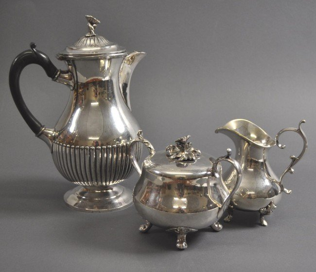 20: Coffee-Set, silverplated