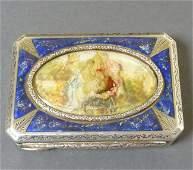 211: Cigarette Case, Silver and Lapis Lazuli