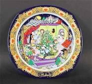 "94: Rosenthal flat collectors plate ""Christmas carols o"