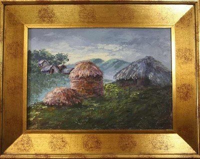 "15: Cesar Tacco ""Mountain Huts"" (Andes?), pastose colou"