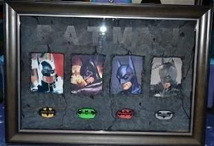 Batman: all four Batman actors with original signat