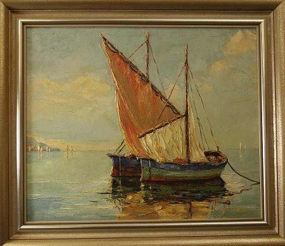 "22: ""Sailing Boats on a Lake"", signed"