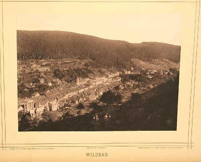 """105: """"Wildbad"""" after print from court photographer Schm"""