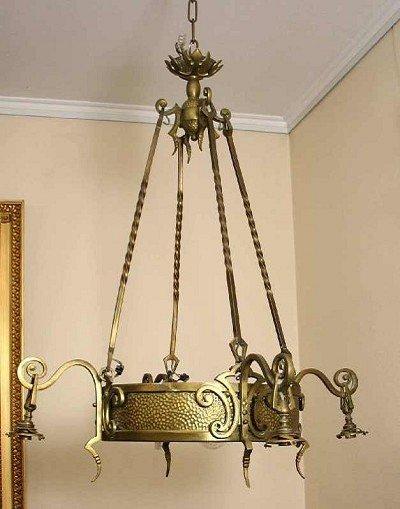 107: Brass candelabra, six flames