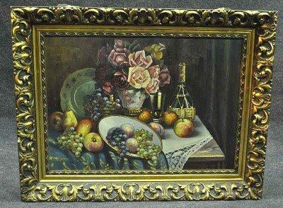 "114: Schneider, F., ""Flower Still Life"", oil on paintin"