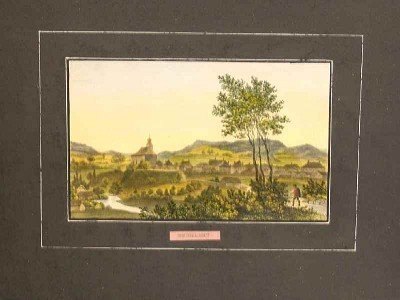 """119: """"Neumarkt"""", hand colored lithograph image"""