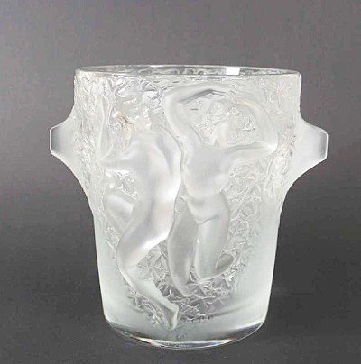 "517: Lalique champagne cooler, ""Ganymede"", two ladies b"