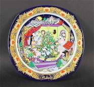 "813: Rosenthal flat collector's plate ""Christmas carols"