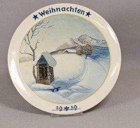 7: Rosenthal Weihnachtsteller, Gebirgsweihnacht, 1929,