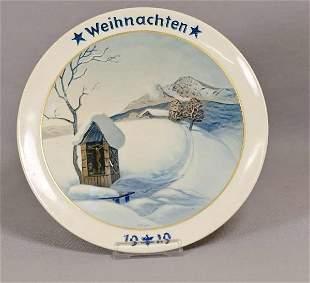 Rosenthal Weihnachtsteller, Gebirgsweihnacht, 1929,