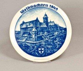 8: Rosenthal Weihnachtsteller, Marienburg, 1942, Walter