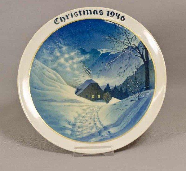 10: Rosenthal Weihnachtsteller, Weihnachten, 1946