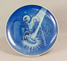 12: Rosenthal Weihnachtsteller, Heilige Familie, 1949,