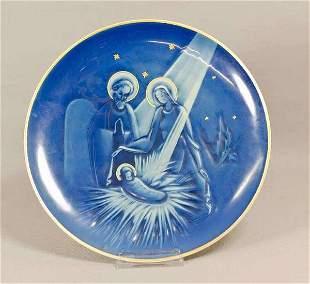 Rosenthal Weihnachtsteller, Heilige Familie, 1949,