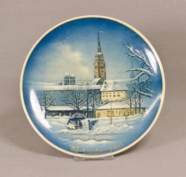 23: Rosenthal Weihnachtsteller, Weihnachten in München,