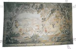 Hunting Scenery hand-knitted tapestry end of 19th cent.