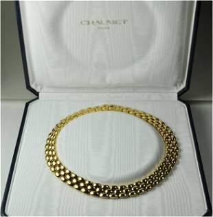 CHAUMET, Paris: finest modern Gold Necklace 750/18K YG