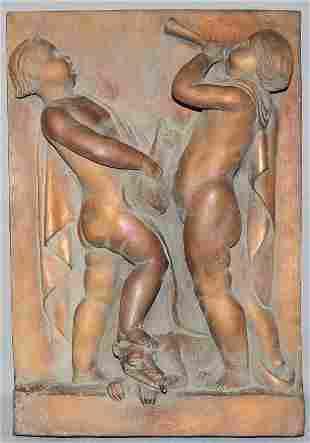 SCHMID-EHMEN, Kurt (1901-1968) wall fountain: Musicians