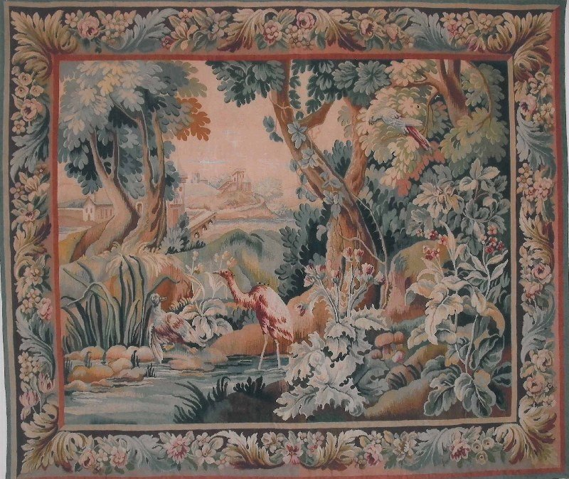 Antique Aubusson - tapestry, France, 19th century