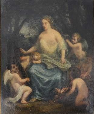 "DIAZ DE LA PEÑA, Narcisse, ""Adornment of the bride"""
