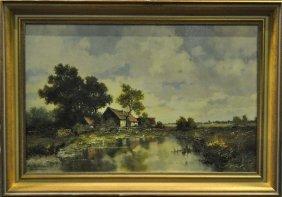 BROECKER E., Munich (1893 - 1963) oil on canvas