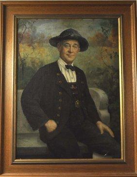 "GREINER, J., ""Man in peasant costume,"" oil on canvas al"