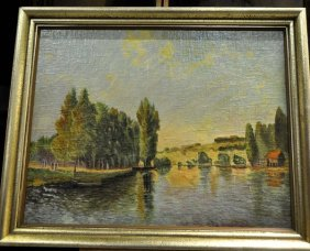 """""""Southern Landscape,"""" a fine style of painting, framed"""