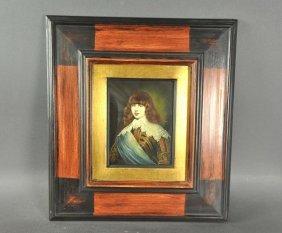 """Italian gentleman"" miniature painting, center right,"