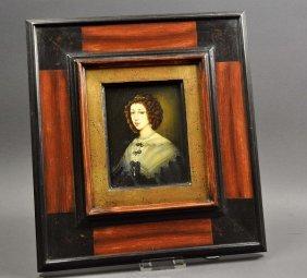 "Miniature painting, ""Italian noblewoman,"" according to"