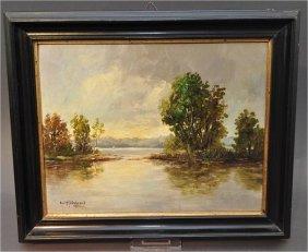 """Hildebrand, E. (1930), """"Chiemsee idyll"""", Oil on paintin"""