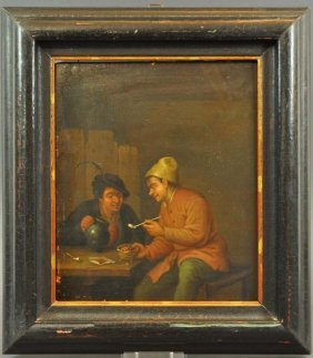 """""""Two pipe smokers in the room"""" with pitcher and bowl co"""