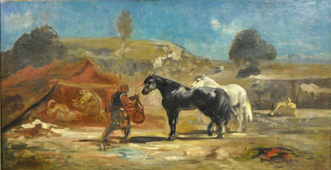 """von Marées, Johann (Hans) Reinhard, """"Arabian Tent Camp"""""""