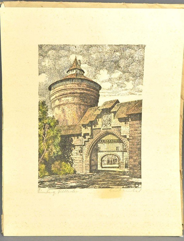 """KRAWINKEL (1937), 6 hand-colored lithographs, """"That was"""